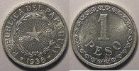 1938 Paraguay Paraguay, 1 Peso 1938  SUP+/SPL, KM# 16 vz+  6,00 EUR  +  7,00 EUR shipping