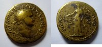 Rom Dupondius Dupondius von Titus, geprgt in Lugdunum  Rs. Pax n. links stehend