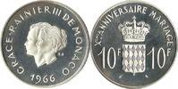 10 Francs 1966 MONACO RAINIER & GRACE POLI...