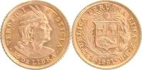 1/5 Libra Gold 1961 Peru Inka-Kopf, Manco Capac prägefrisch-stempelglanz  119,00 EUR  +  10,00 EUR shipping