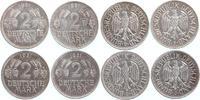 4 x 2 Mark 1951 D, F, G, J BRD Weintrauben und Ähren ~ ss-vz  54,00 EUR  +  10,00 EUR shipping