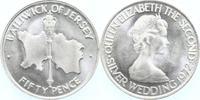 50 Pence Silber 1972 Jersey Silberhochzeit stempelglanz  6,00 EUR  +  6,00 EUR shipping