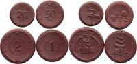 4 Stück, 20 Pf.- 2 Mark 1921 Sachsen Porzellan-Notgeld Notgeld aus Bött... 19,00 EUR  +  6,00 EUR shipping