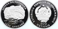 500 Metical Silber 1989 Mosambik WWF, Löwe PP - Proof in Kapsel  39,00 EUR  +  10,00 EUR shipping