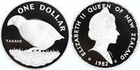1 Dollar Silber 1982 Neuseeland WWF, Takahe  PP Proof in Münzkapsel  35,00 EUR  +  6,00 EUR shipping