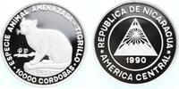 10.000 Cordobas Silber 1990 Nicaragua WWF, Zwergtigerkatze PP Proof in ... 59,00 EUR  +  10,00 EUR shipping