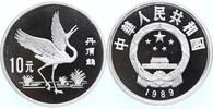 10 Yuan Silber 1989 China WWF, Mandschurenkranich PP Proof- in Kapsel  45,00 EUR  +  10,00 EUR shipping