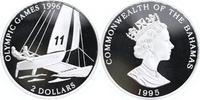 2 Dollars Silber 1995 Bahamas Olympische Spiele Atlanta, Segeln PP Proo... 17,00 EUR  +  6,00 EUR shipping
