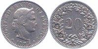 20 Rappen 1885 Schweiz, Eidgenossenschaft  sehr schön+  3,00 EUR  +  6,00 EUR shipping