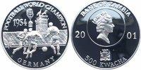 500 Kwacha Silber 2001 Sambia Deutschland Fußballweltmeister 1954 PP Pr... 14,00 EUR  +  6,00 EUR shipping
