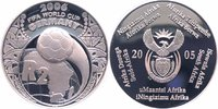 S&uuml;dafrika 2 Rand Silber 2005 PP Proof Fu&szlig;ball-WM 2006 in Deutschland 39,00 EUR 