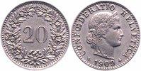 20 Rappen 1909 Schweiz  vorzüglich  8,00 EUR  +  6,00 EUR shipping
