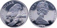 1 Dollar Silber 1984 Neuseeland Vogel, Black Robin PP Proof  22,00 EUR  +  6,00 EUR shipping