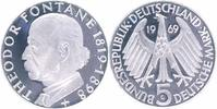 BRD 5 Mark 1969 G 1a PP in M&uuml;nzr&auml;hmchen Theodor Fontane 13,00 EUR 