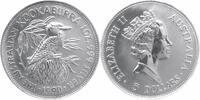 5 $ Silberunze 1990 Australien Kookaburra Stempelglanz in Originalkapsel  59,00 EUR