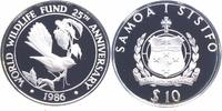 10 Tala Silber 1986 Samoa 25 Jahre WWF, Fächerschwanz PP Proof in Kapsel  20,00 EUR  +  6,00 EUR shipping