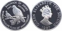 2 Pounds Silber 1987 Jersey 25 Jahre WWF, Rosentaube PP Proof in Kapsel  21,00 EUR  +  6,00 EUR shipping