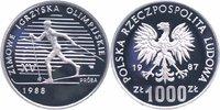 1000 Zlotych Silberprobe 1987 Polen Olympische Winterspiele 1988, Langl... 25,00 EUR  +  6,00 EUR shipping