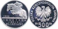 500 Zlotych Silber 1987 Polen Olympische Sommerspiele 1988, Reiten PP P... 26,00 EUR  +  6,00 EUR shipping