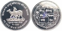 250 Rupien Silber 1986 Nepal 25 Jahre WWF, Moschustiere PP - Proof in K... 22,00 EUR  +  6,00 EUR shipping