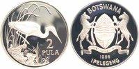 2 Pula Silber 1986 Botswana 25 Jahre WWF, Braunkehlreiher PP - Proof in... 22,00 EUR  +  6,00 EUR shipping