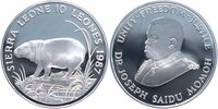 10 Leones Silber 1987 Sierra Leone 25 Jahre WWF, Zwergflußpferd PP - Pr... 24,00 EUR  +  6,00 EUR shipping