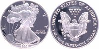 1 Dollar 2002 W USA American Silver Eagle, 1 Unze Feinsilber PP PP Proo... 55,00 EUR  +  10,00 EUR shipping