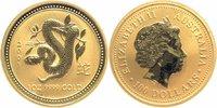 100 Dollars 2001 Australien 1 Unze GOLD, Jahr der Schlange Stempelglanz... 1499,00 EUR  +  16,00 EUR shipping