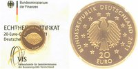 Deutschland 20 Euro GOLD 2011 A ST, OVP + Zetifikat Deutscher Wald, Buche 239,00 EUR 