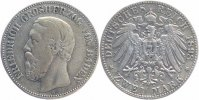 Baden 2 Mark 1898 G sch&ouml;n, selten! Friedrich I. 1856-1907 79,00 EUR 