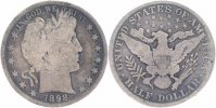 USA 1/2 Dollar Silber 1898 sch&ouml;n Barber 35,00 EUR 