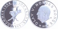 Norwegen 100 Kroner Silber 1991 PP Proof mit Originalzertifikat Winterol... 55,00 EUR 