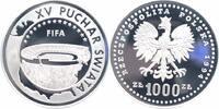 1000 Zlotych Silber 1994 Polen Fußball-WM 1994 PP - Proof in Kapsel  38,00 EUR  +  6,00 EUR shipping
