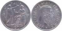Italien 20 Lire Silber 1928 pr&auml;gefrisch-stempelglanz Victor Emanuel III.... 429,00 EUR 