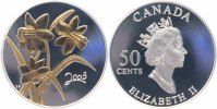 Kanada 50 Cents Silber teilvergoldet 2003 PP + Zertifikat + Box + Umverp... 30,00 EUR 