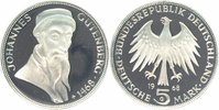 BRD 5 Mark 1968 G PP in M&uuml;nzr&auml;hmchen Johannes Gutenberg 18,00 EUR 