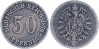 Kaiserreich 50 Pfennig 1876 E sch&ouml;n kleiner Adler 9,00 EUR 
