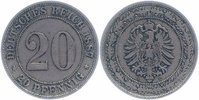 Kaiserreich 20 Pfennig 1887 F sehr sch&ouml;n+  20,00 EUR 