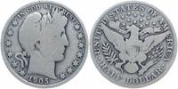 USA 1/2 Dollar Silber 1905 sch&ouml;n Barber 39,00 EUR 