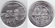 1000 Kronur Silber 1974 Island 1100 Jahre Landnahme stempelglanz  30,00 EUR