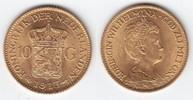 10 Gulden GOLD 1913 Niederlande Wilhelmina I. 1890-1948 fast prägefrisch  219,00 EUR