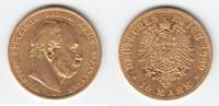 10 Mark GOLD 1880 A Preußen Wilhelm I. 1861-1888 sehr schön-  173,00 EUR