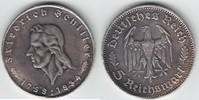 5 Reichsmark 1934 F 3. Reich Schiller Hitzespuren, sehr schön  119,00 EUR  +  10,00 EUR shipping