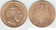 20 Mark GOLD 1876 A Preußen Wilhelm I. 1861-1888 kl. RF, sehr schön++  279,00 EUR