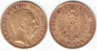 10 Mark GOLD 1877 E Sachsen Albert 1873-1902 sehr schön  269,00 EUR