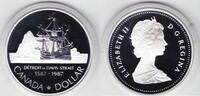 1 Dollar 1987 Kanada 400. Jahrestag Nordpolarexepedition J. Davis PP Pr... 10,00 EUR