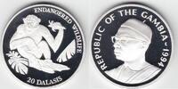 20 Dalasis Silber 1994 Gambia Schimpanse PP- in Kapsel  20,00 EUR  +  6,00 EUR shipping