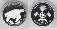250 Rufiyaa Silber 1994 Malediven Bedrohte Tierwelt, Unechte Karettschi... 30,00 EUR  +  6,00 EUR shipping