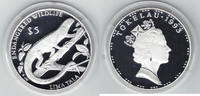 5 $ Lima Tala 1993 Tokelau Bedrohte Tierwelt, Leguan PP Proof in Kapsel  27,00 EUR  +  6,00 EUR shipping