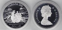 1 Dollar 1989 Kanada Mackenzie River PP Proof in Kapsel  11,00 EUR  +  6,00 EUR shipping